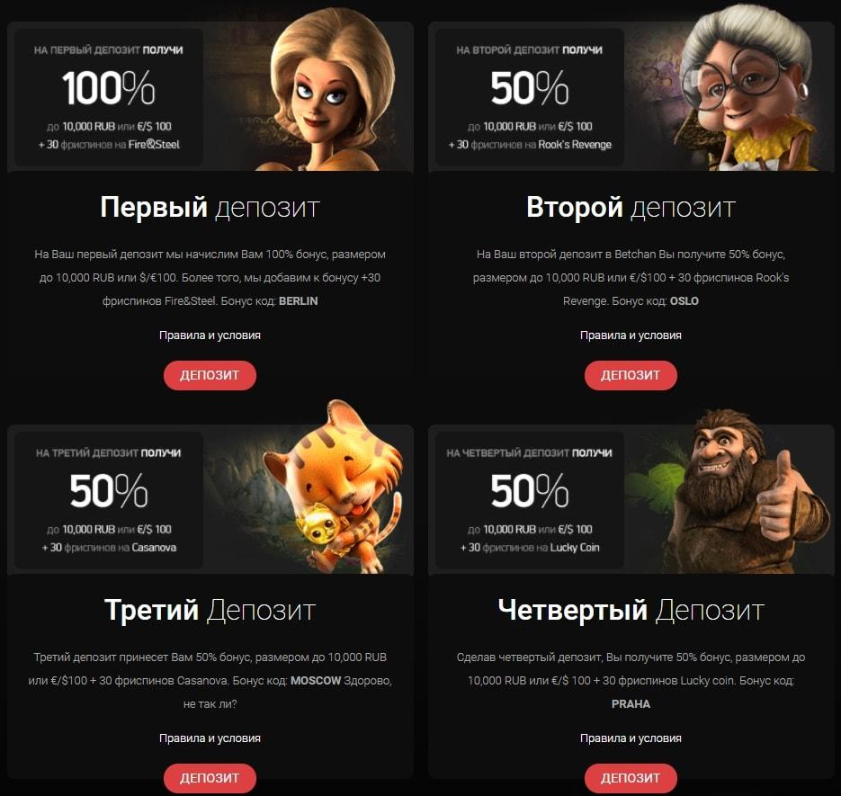 казино бетчан бонус код