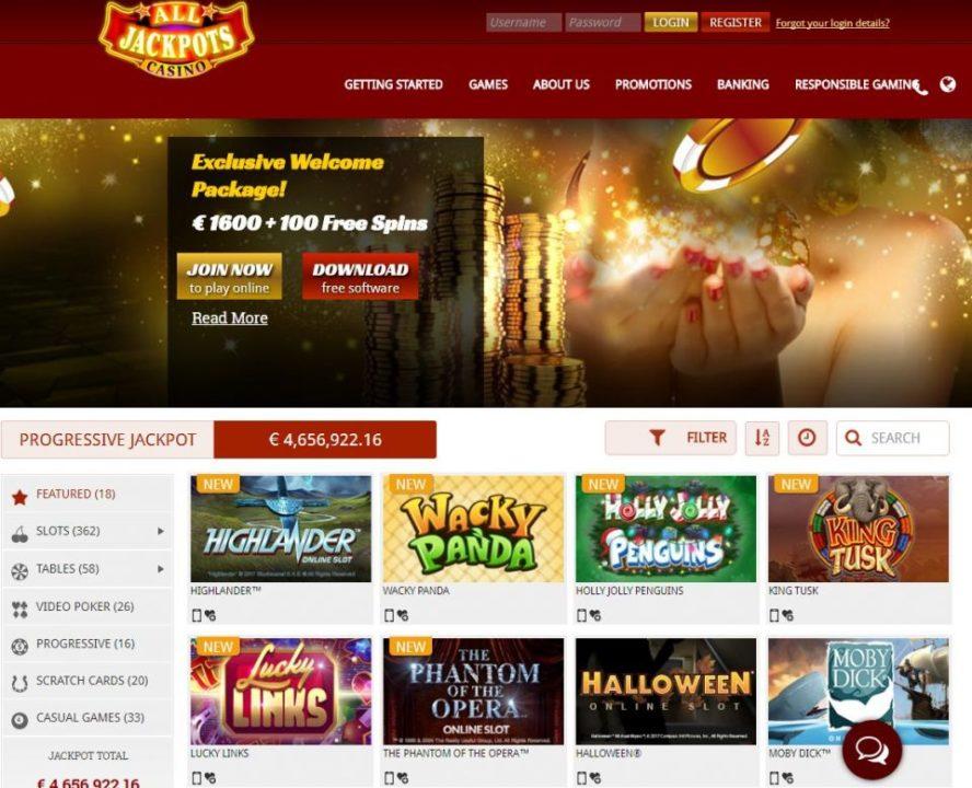All jackpots casino $5